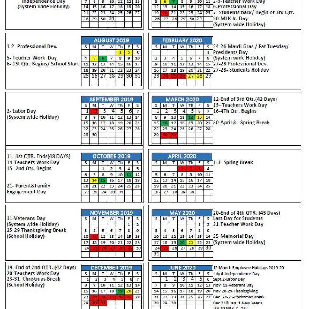 Mcpss Releases 2019-20 School Year Calendar | Thewire