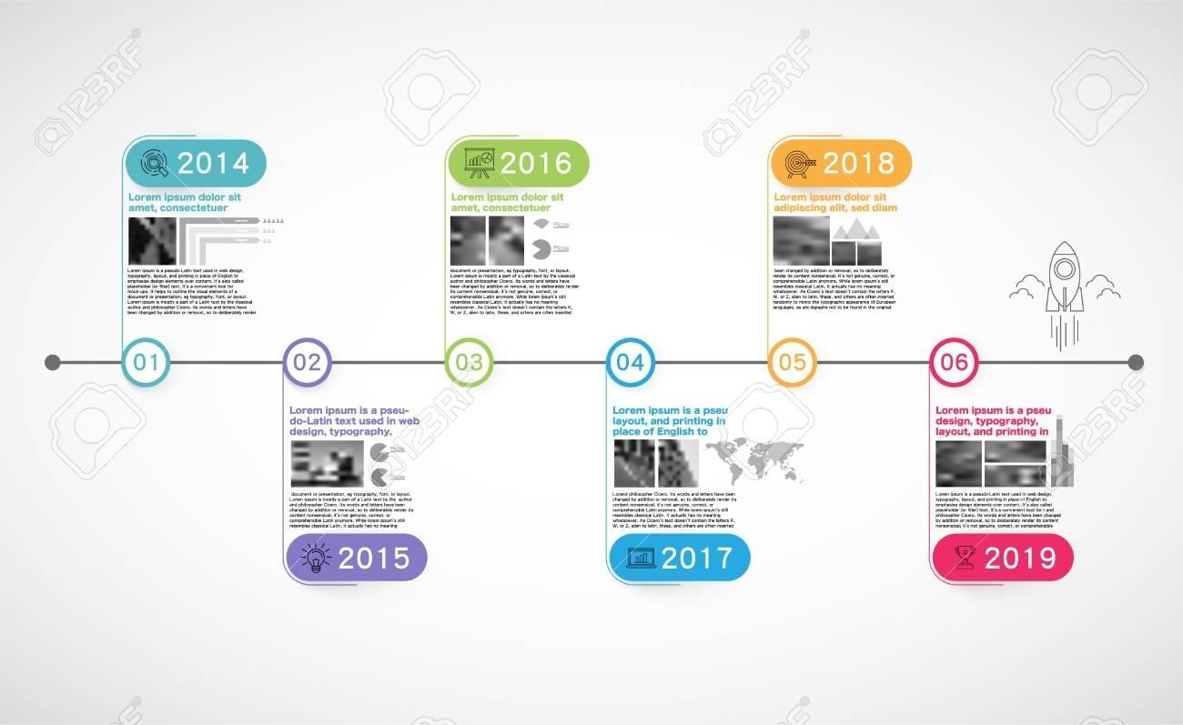 Milestones Company, Timeline Infographic, Vector, History; Calendar;..