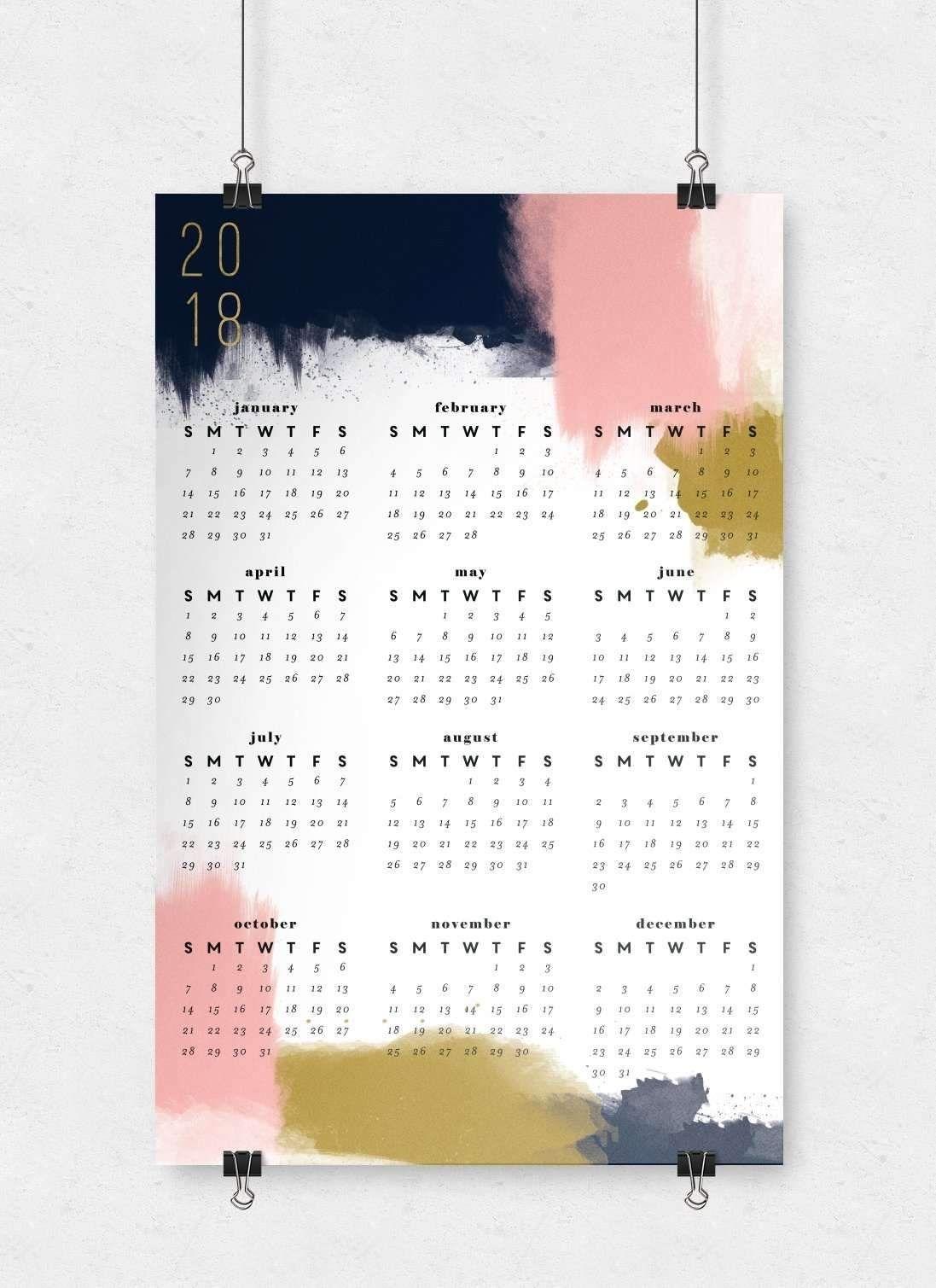 Modern Abstract Wall Calendar | 11X17 | Wall Planner