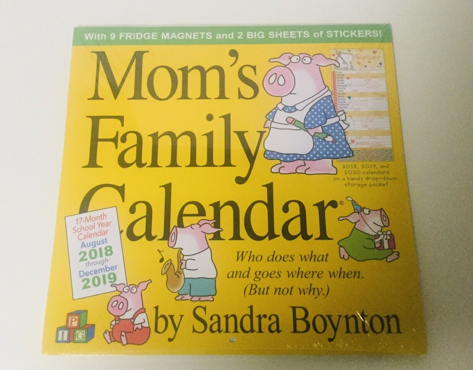 Mom's Family Wall Calendar 2019Sandra Boynton (2018, Calendar)