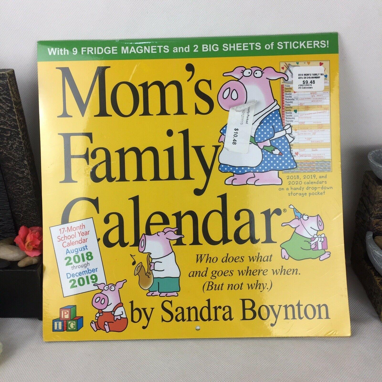 Moms Family Wall Calendar 2019Sandra Boynton Workman Publishing