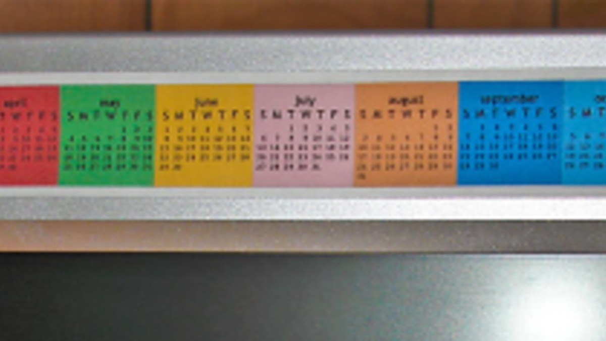 Monitor Strip Calendar