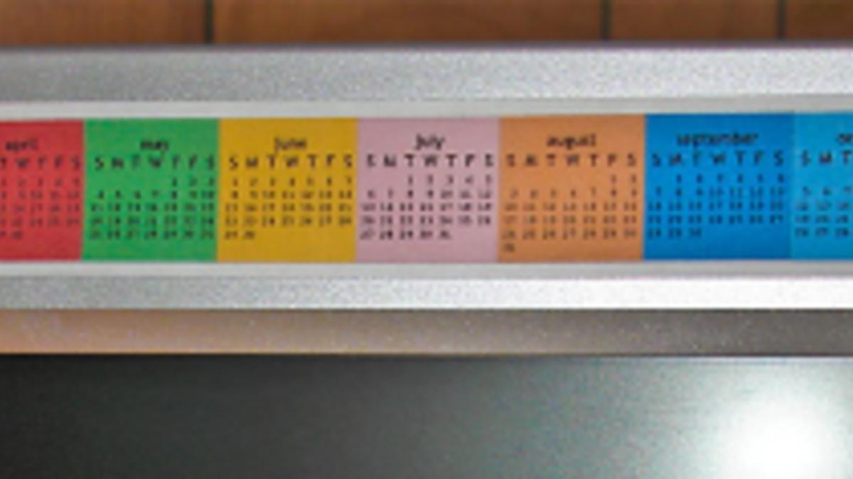 Monitor Strip Calendar
