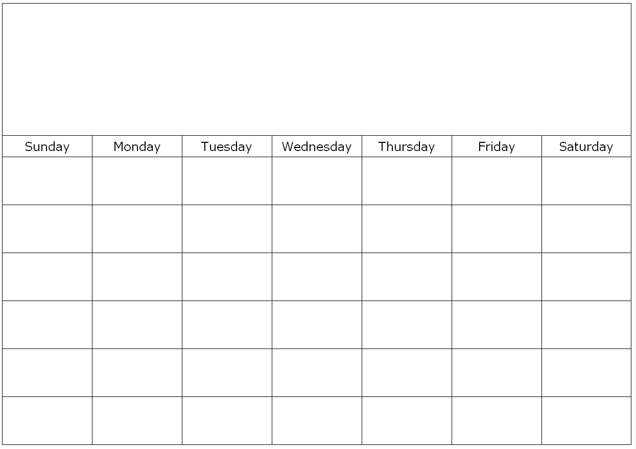 Monthly Blank Calendar Page Custom Maker Yeucycn Aplg