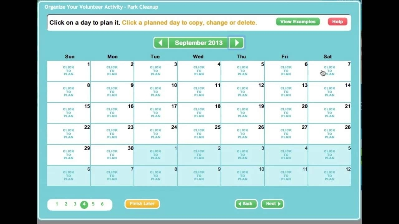 Monthly Calendar Sign Up Sheet Template • Printable Blank