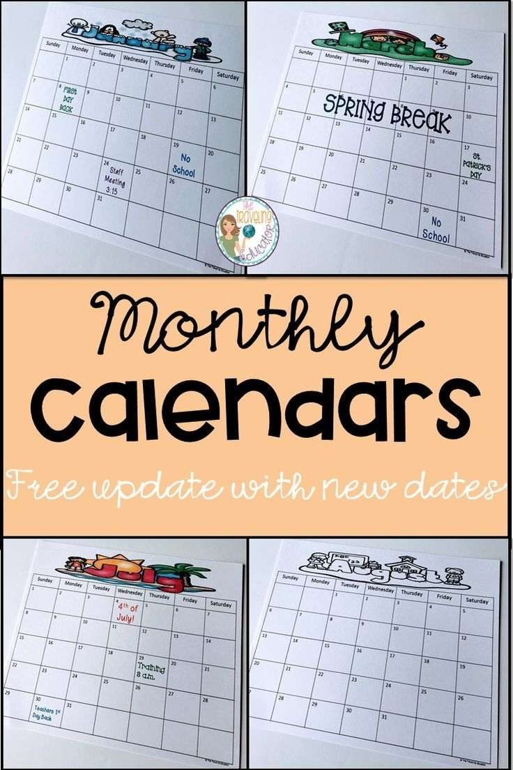 Monthly Calendar Template (Editable) | Pre-K Through