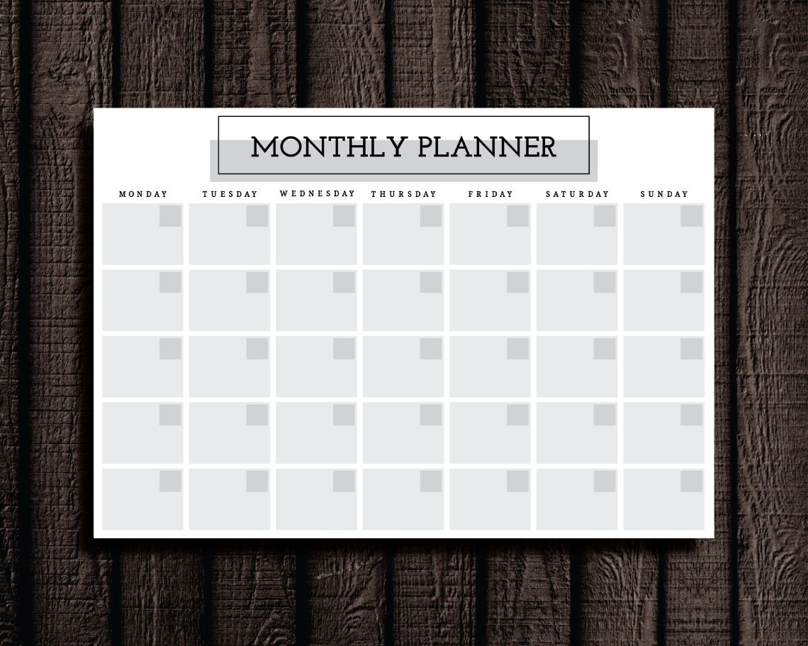 Monthly Planner Printable. Cathartic Malarkey Has Study