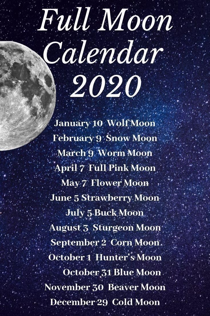 Moon Calendar 2020#moon #sunandmoon #crescnetmoon#fullmoon