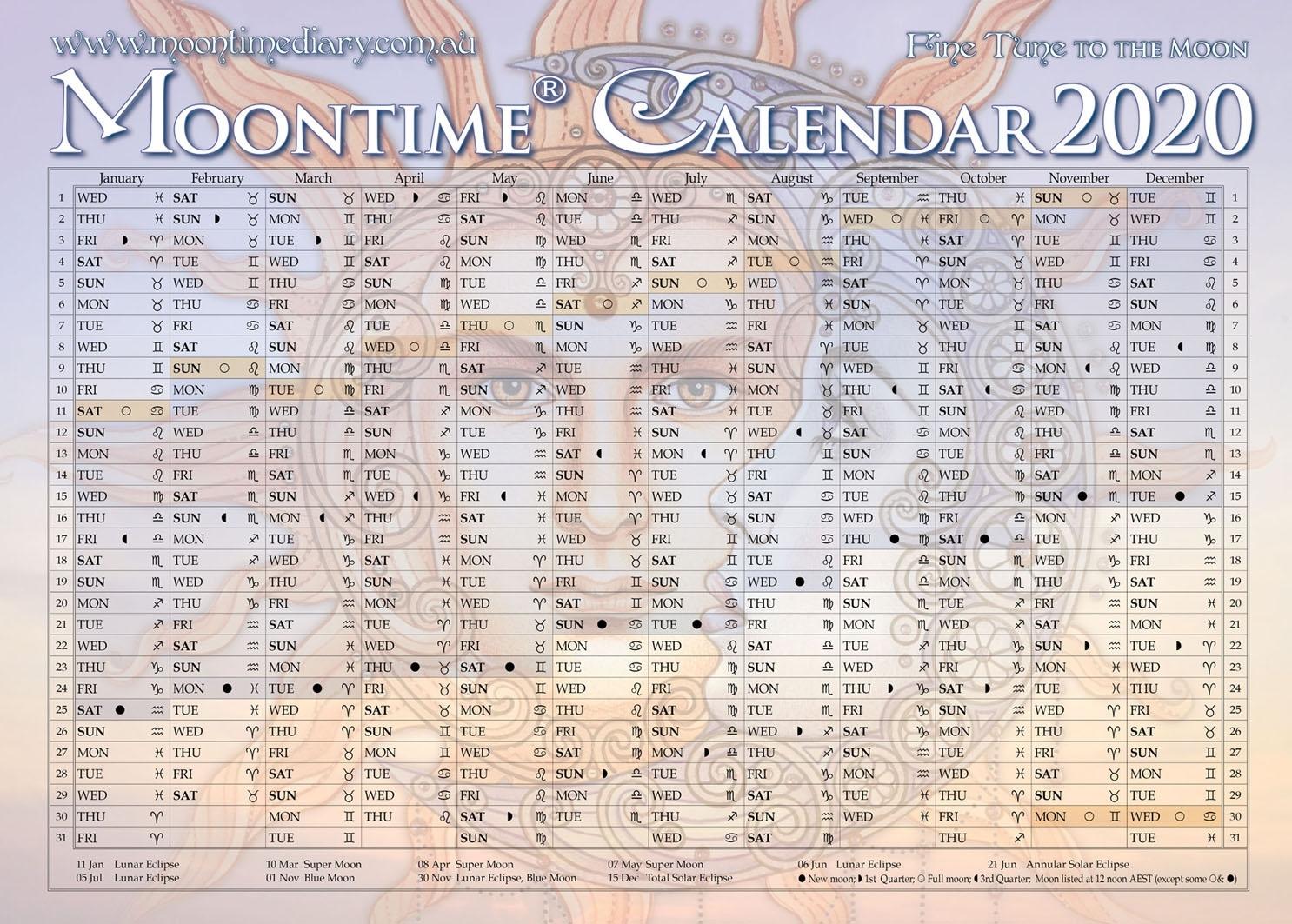 Moontime Calendar 2020