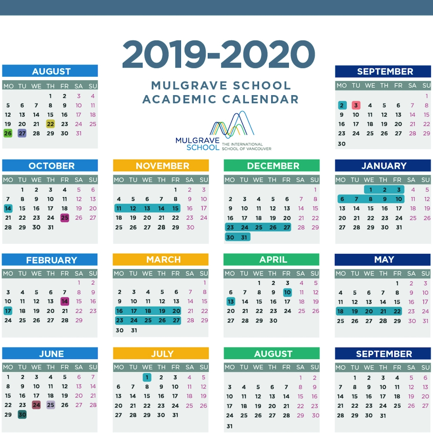 Mulgrave School - Calendars