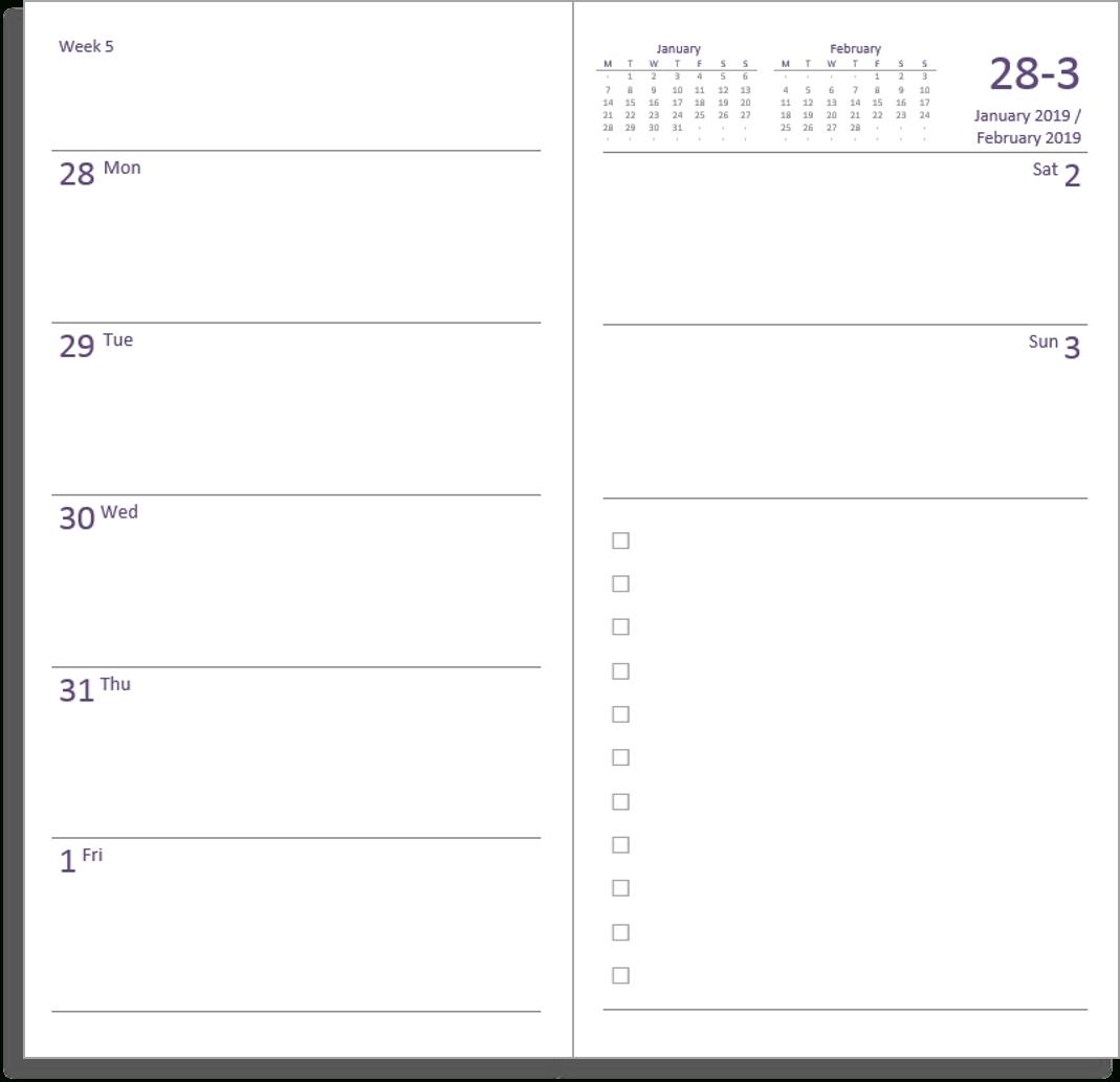 My Life All In One Place: Free Midori Tn Calendar (Diary