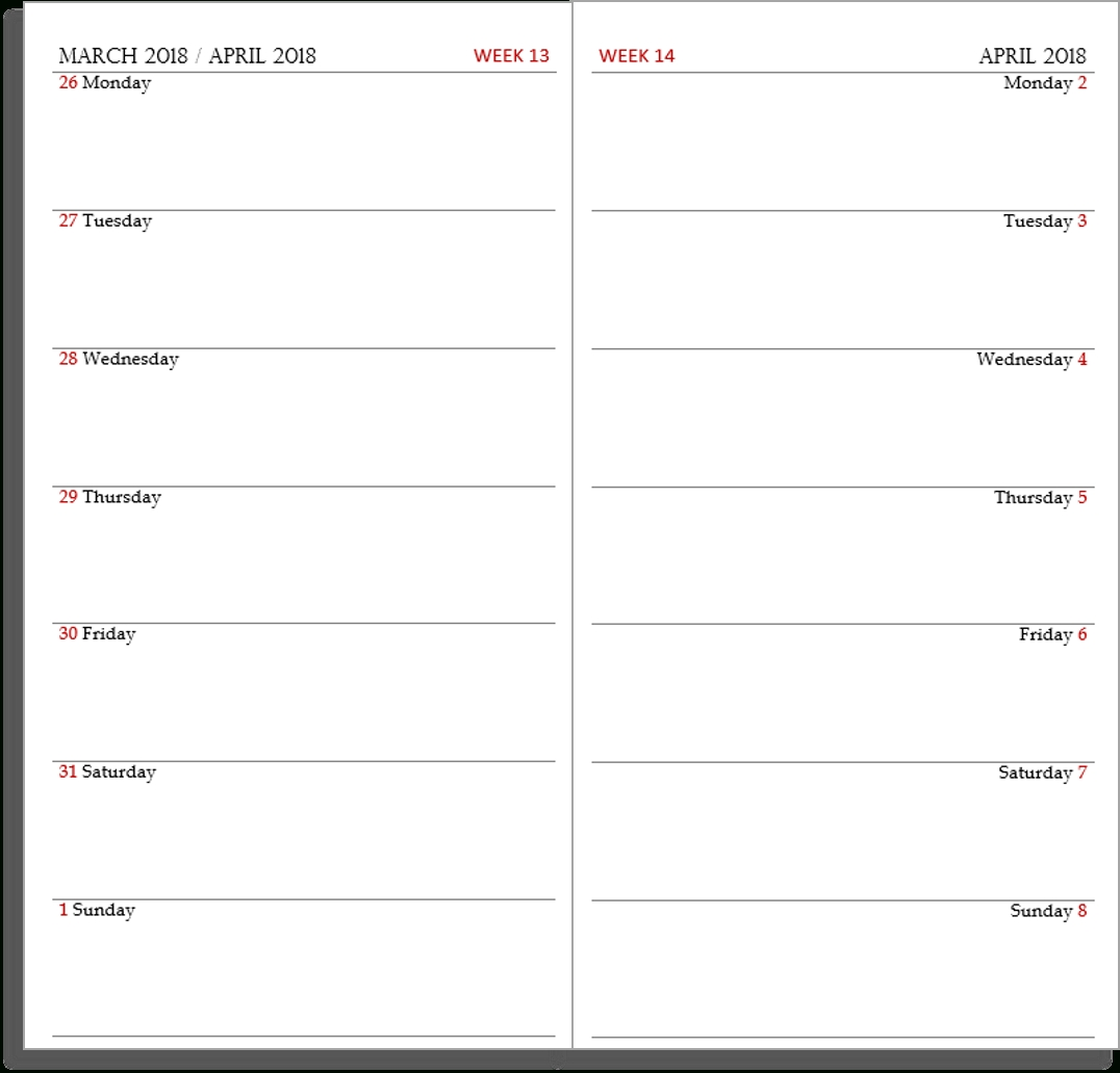 My Life All In One Place: Free Midori Tn Calendar (Diary