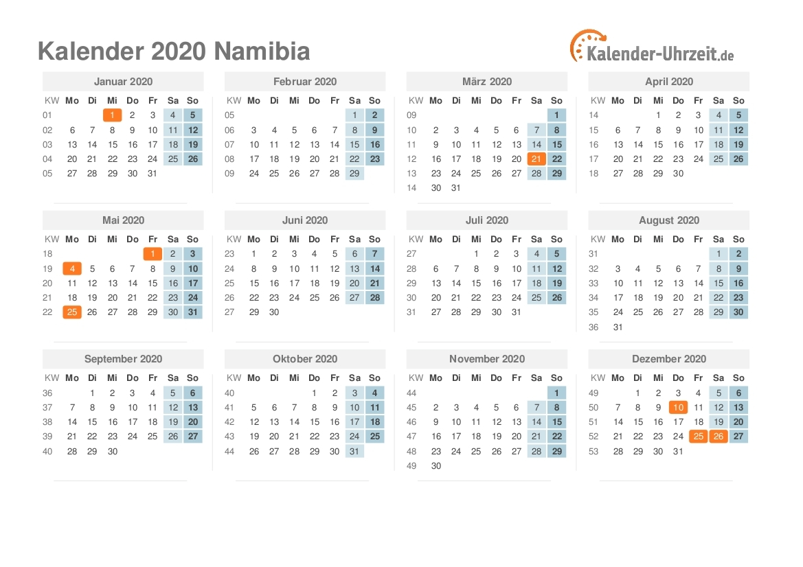 National Holidays In Namibia In 2018 | Office Holidays For