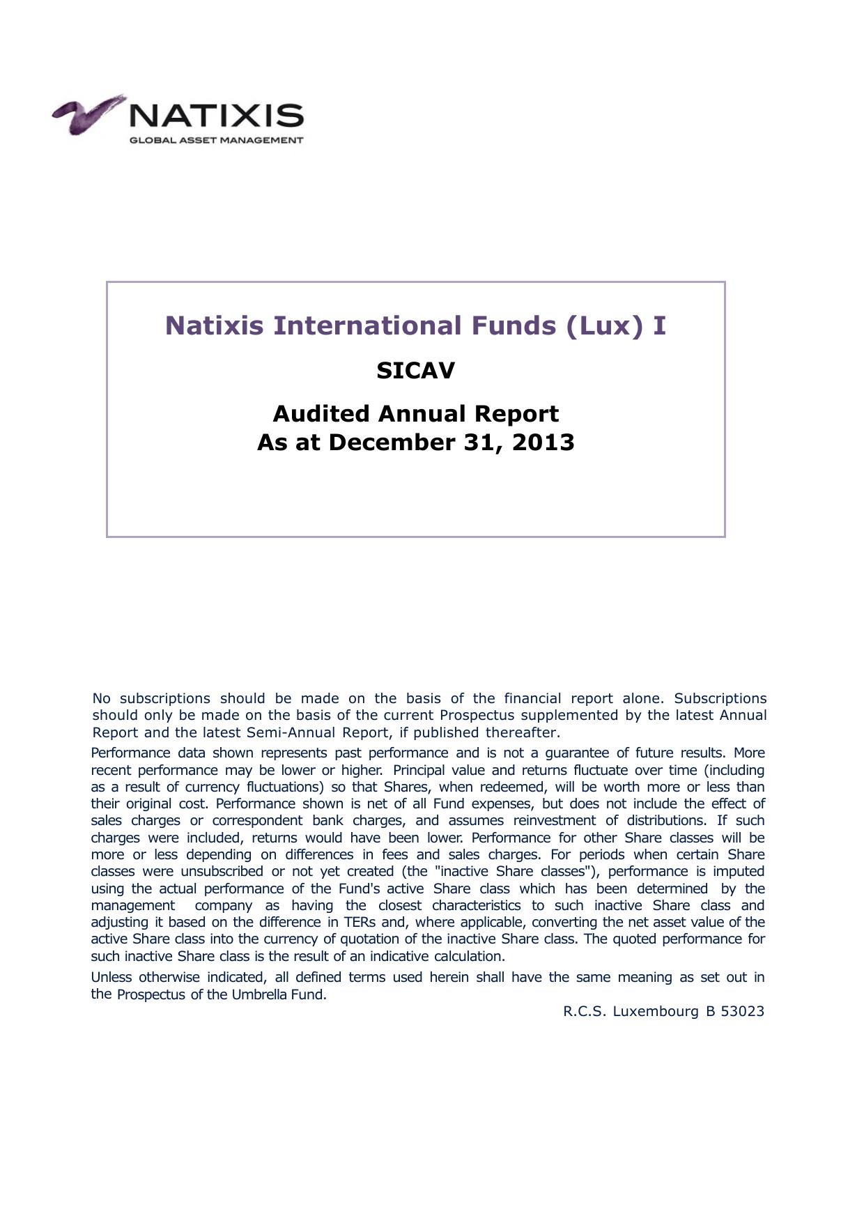 Natixis International Funds (Lux) I | Manualzz