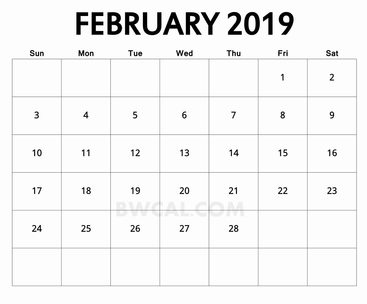 New 32 Sample 2019 Feb December Calendar Printableblank