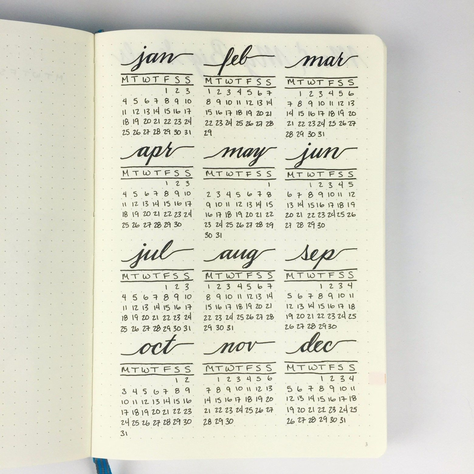 New Year = New Bullet Journal | Bullet Journal Yearly