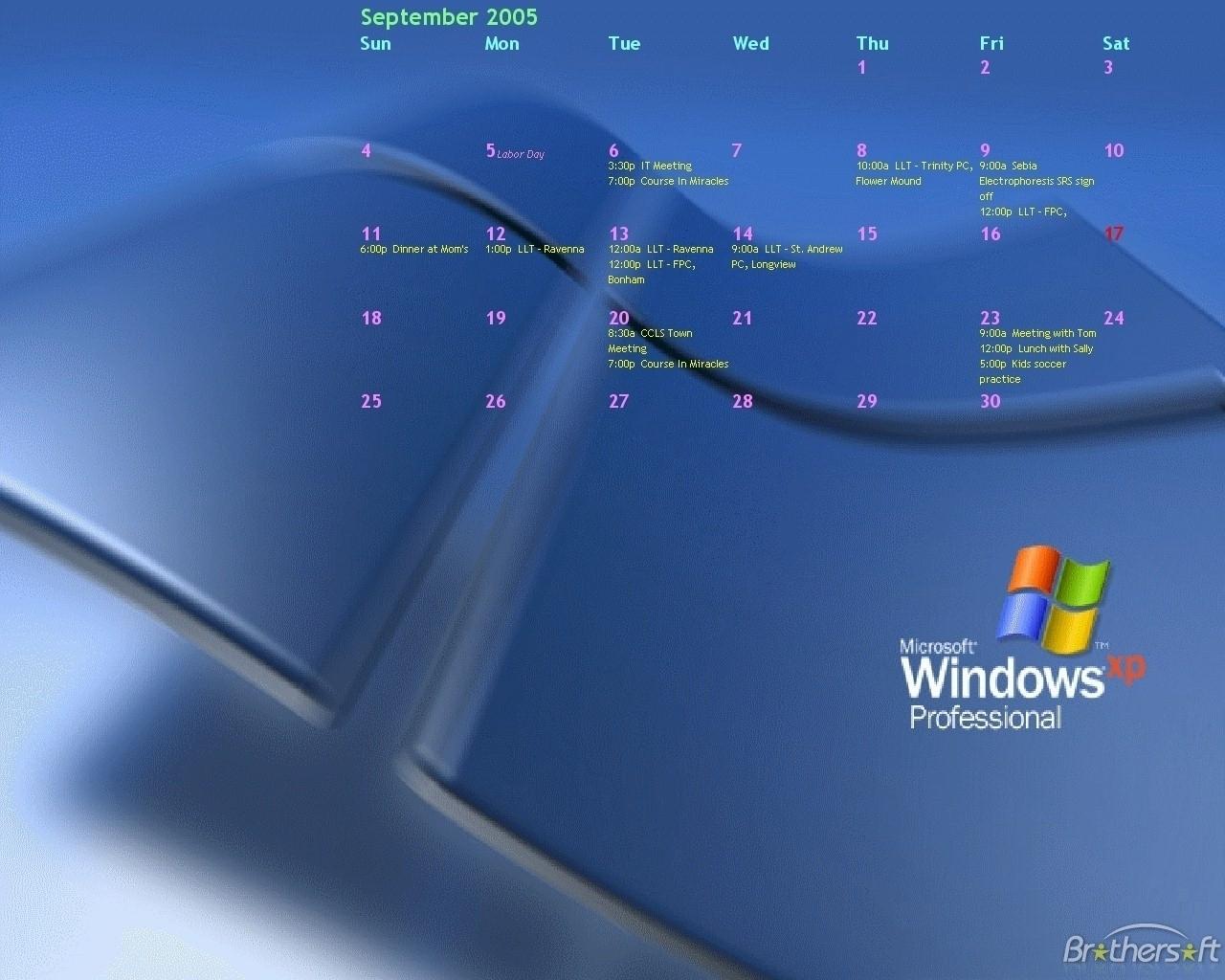 Nice Free Calendar Program For Windows 7 : Mini Calendar