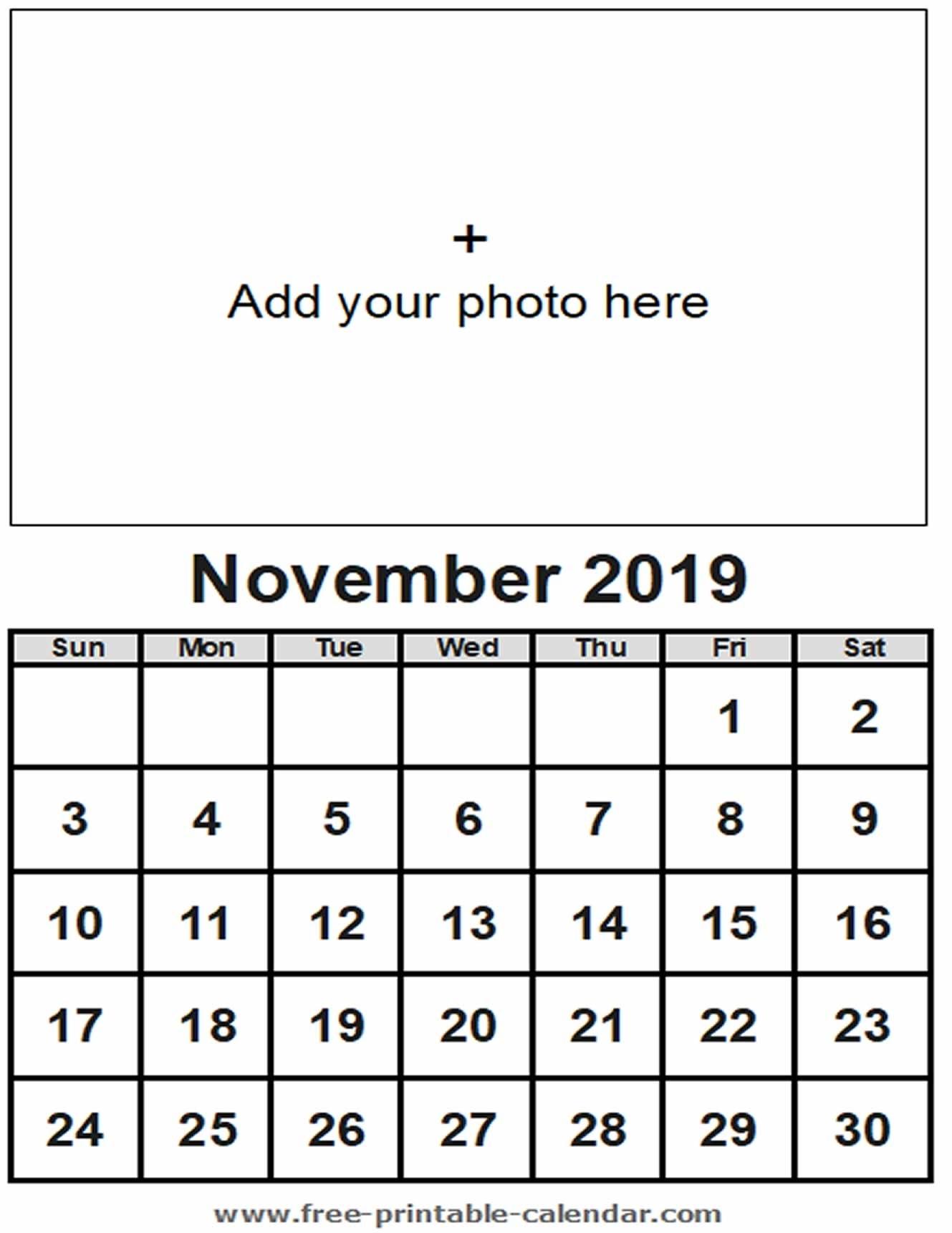 November Calendar 2019 - Free-Printable-Calendar