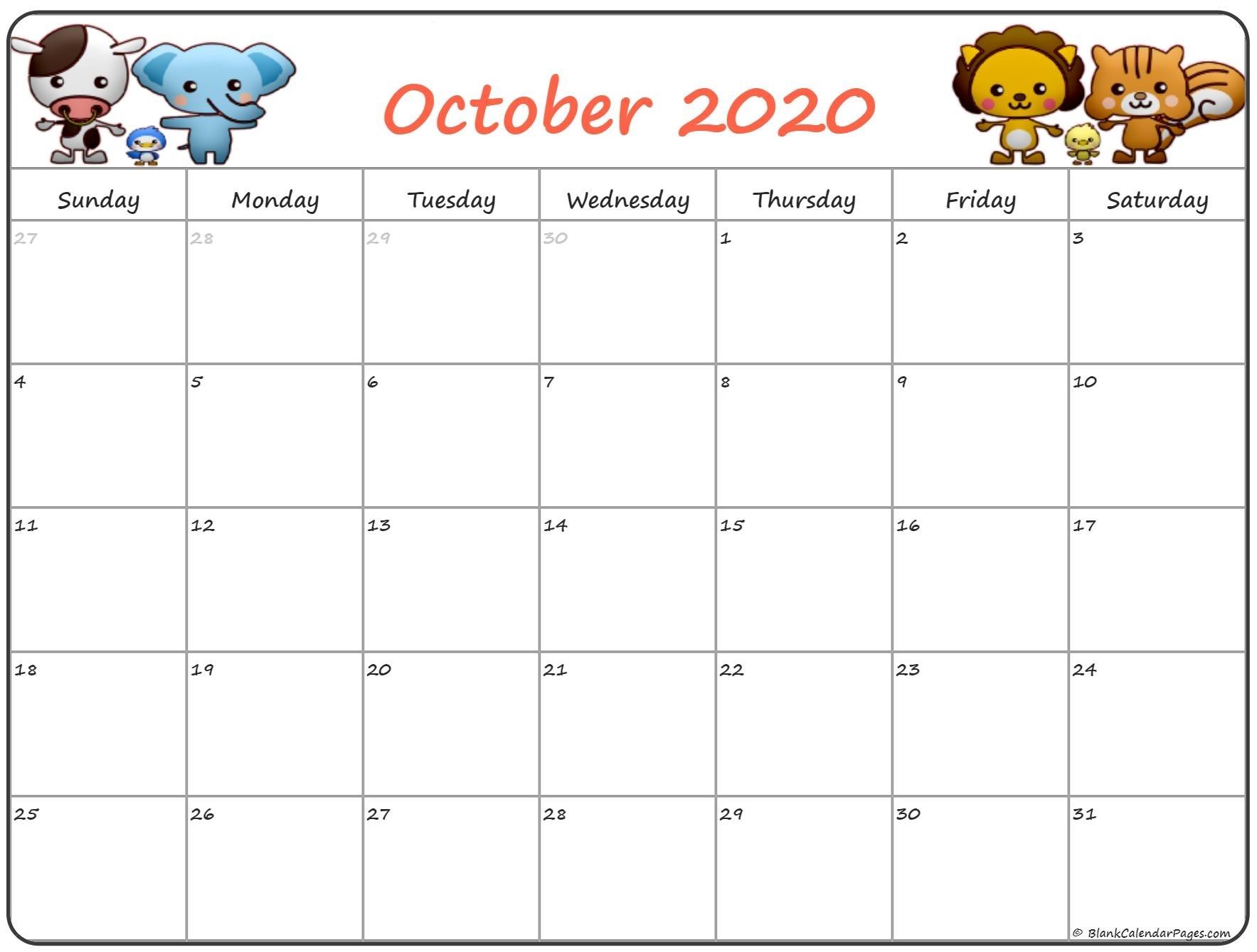 October 2020 Pregnancy Calendar | Fertility Calendar