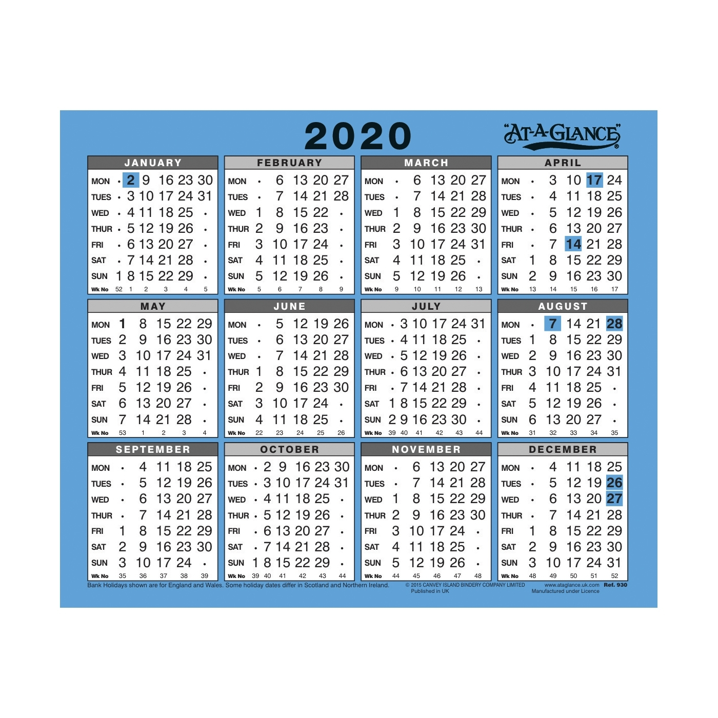 Office Supplies - Office Planning - Calendars