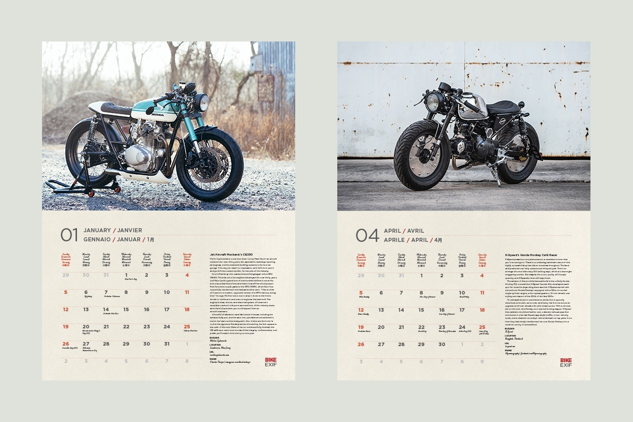 On Sale Now: The 2020 Motorcycle Calendar | Bike Exif