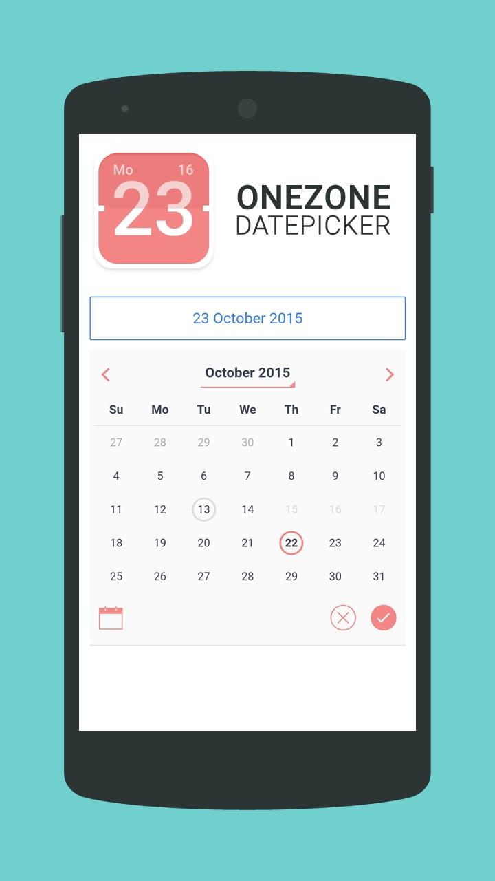 Onezone-Datepicker - Ionic Marketplace