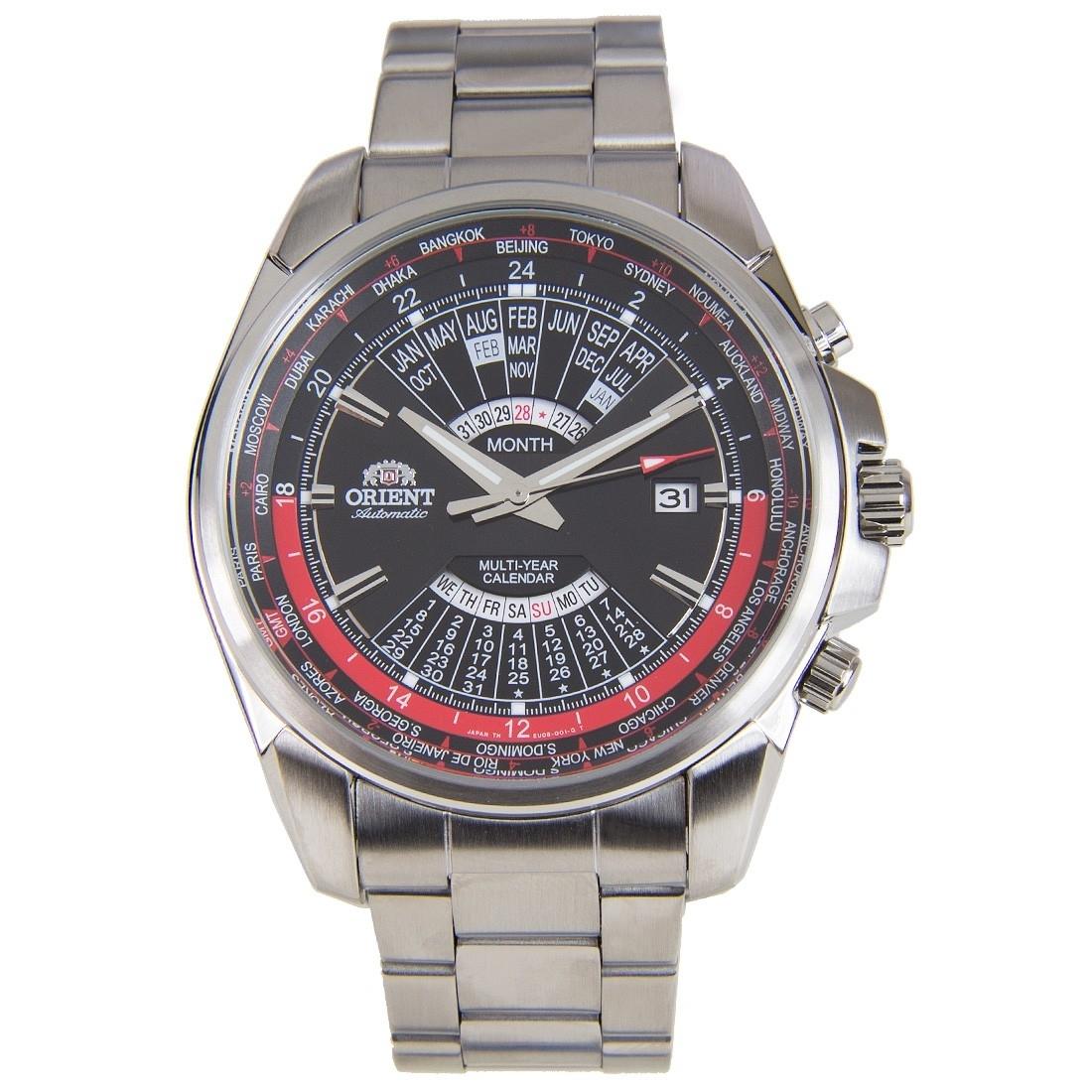 Orient Automatic World Time Multi Year Calendar Watch Eu0B001B