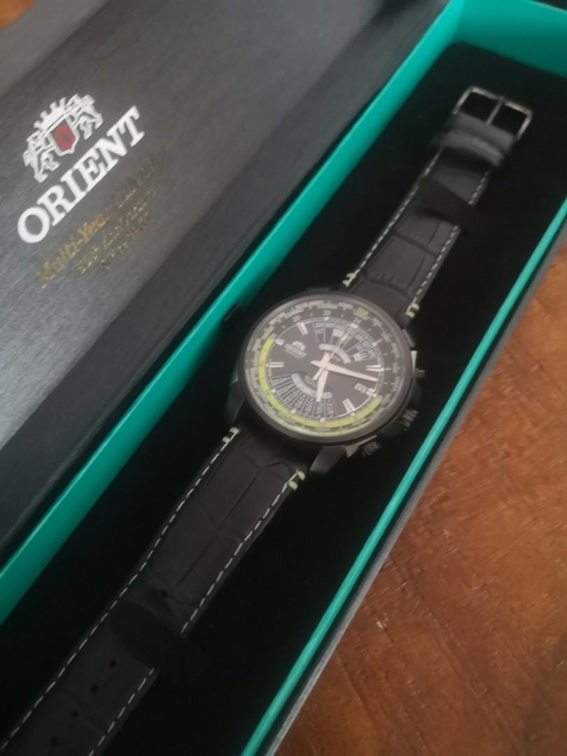 Orient Multi Year Calendar 50Th Anniversary, Men's Fashion