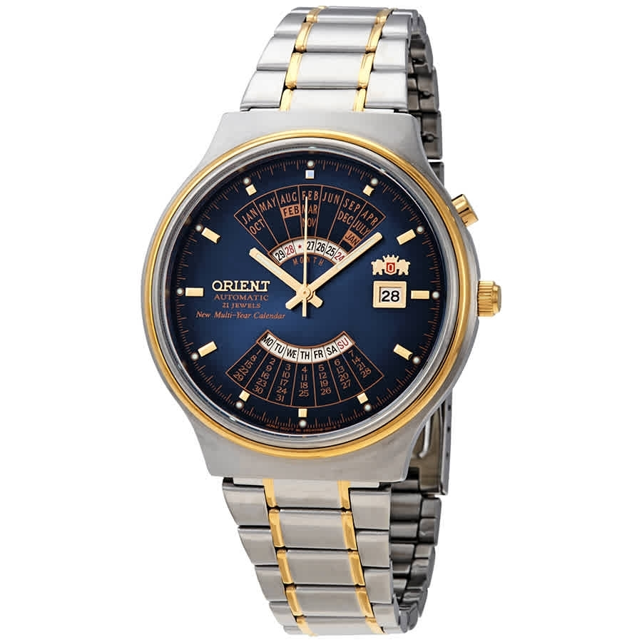 Orient Perpetual Calendar World Time Automatic Blue Dial Men's Watch  Feu00000Dw