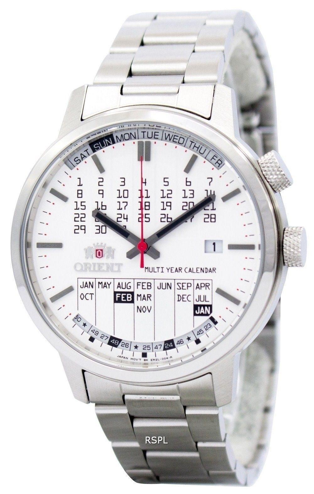 Orient Stylish And Smart Multi-Year Calendar Er2L004W Mens