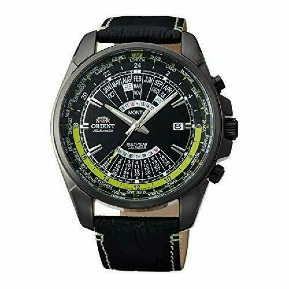 Orient Watch Automatic Winding Sporty Perpetual Calendar Black Seu0B005Bh  Men
