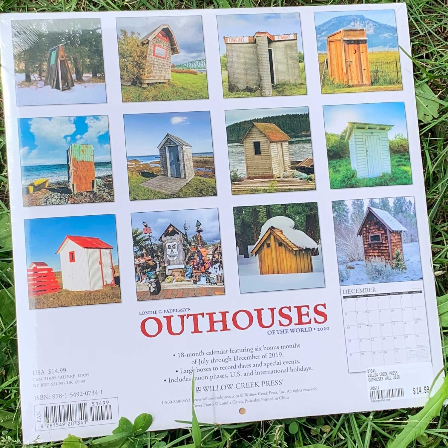 Outhouses Wall 2020 Calendarwillow Creek Press | Boundary Waters Catalog
