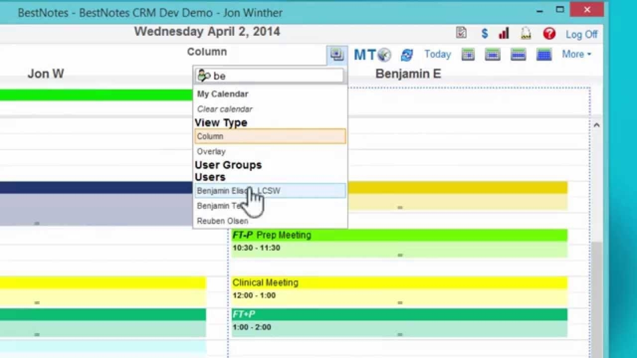 Overlay Calendar In Single And Multi-User Views : Bestnotes