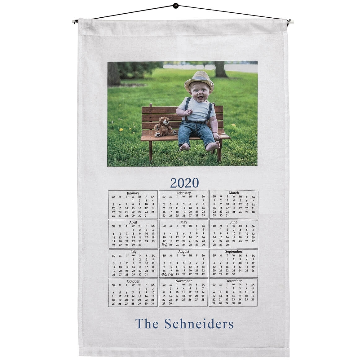 Personalized Photo Towel Calendar