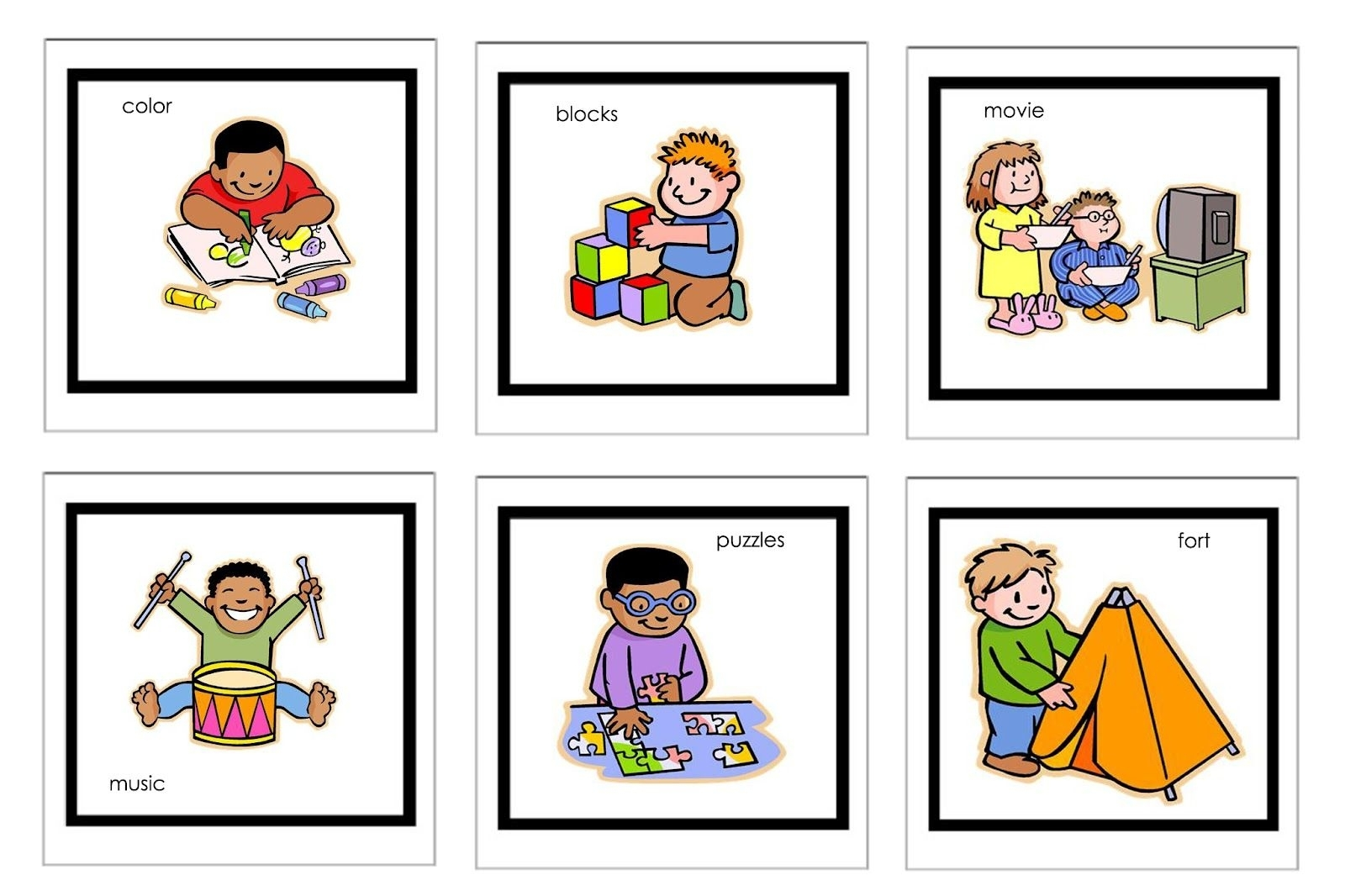 Picture Cards For Nonverbal Children | Free Printable Visual