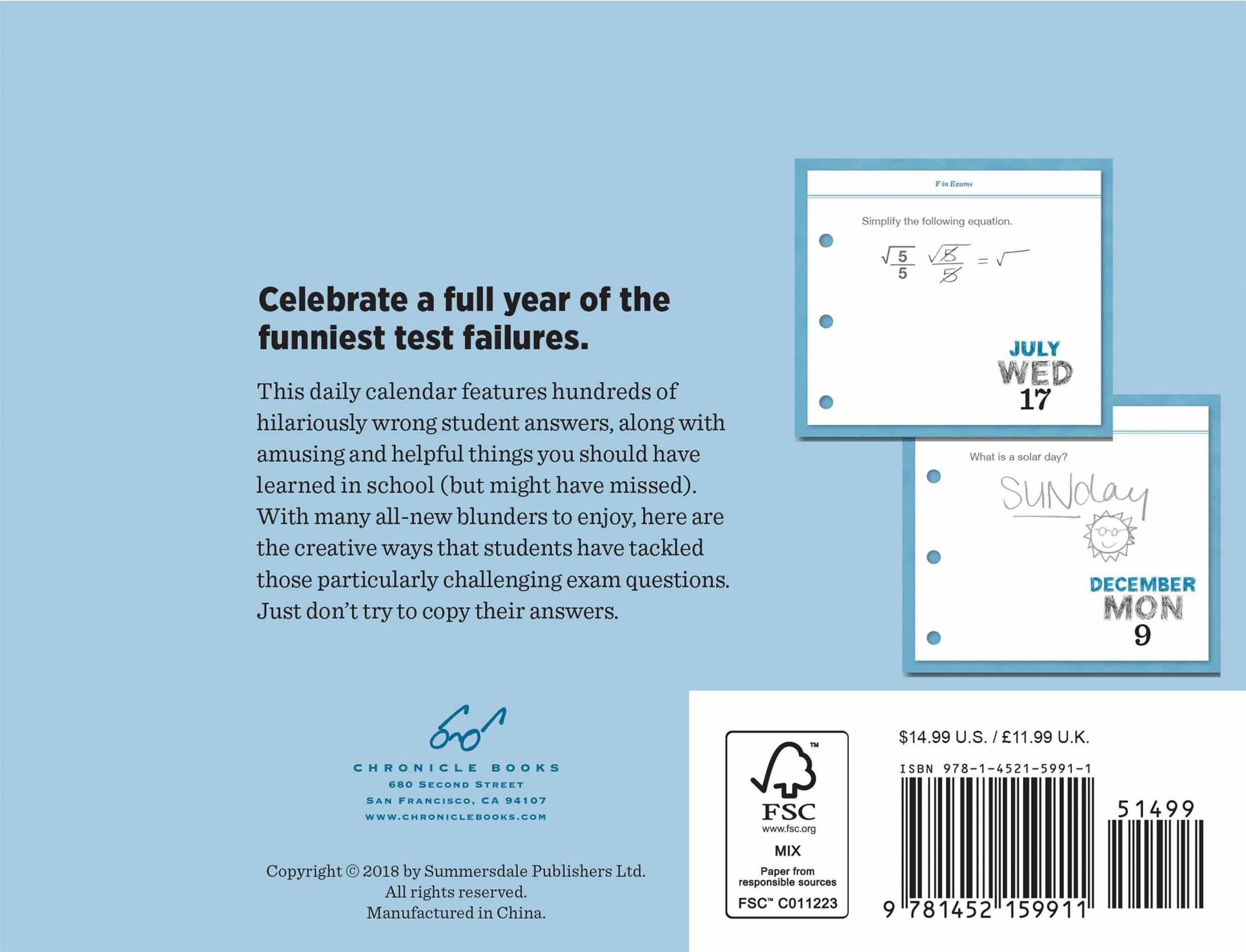 Piet Moodshop | Tear-Off Calendar 2020 F In Exams