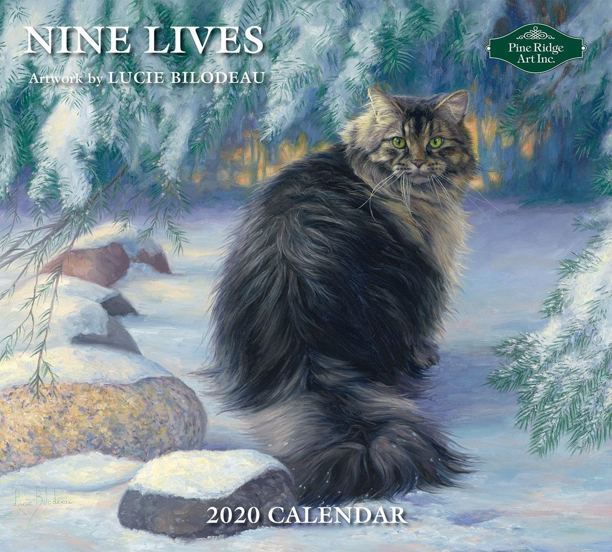 Pine Ridge Art Nine Lives 2020 Wall Calendar