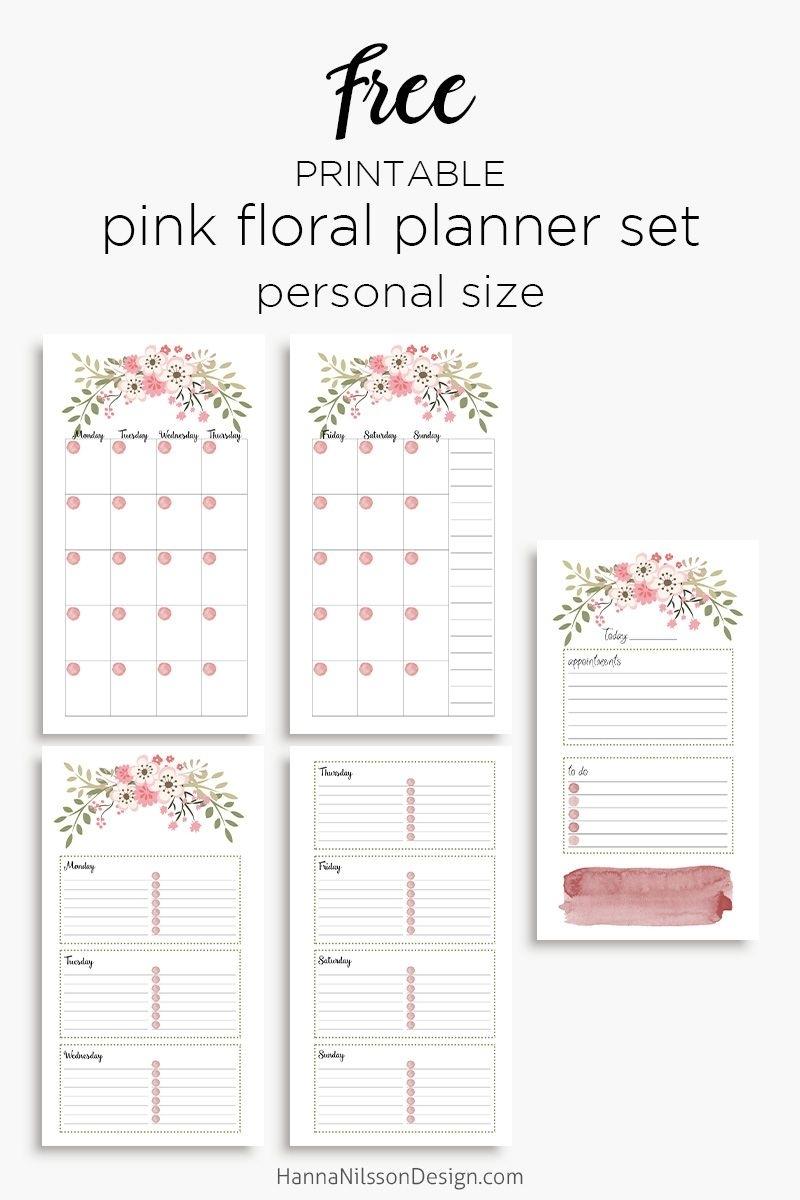 Pink Floral Planner Calendar Inserts | Printables