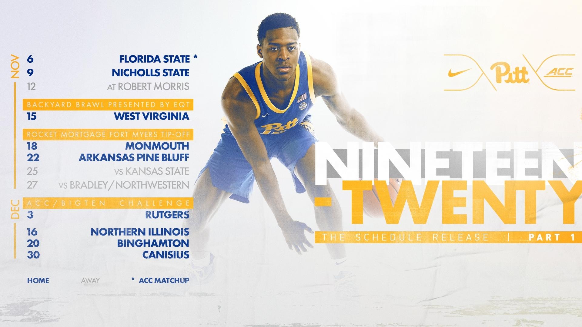 Pitt Announces Partial 2019-20 Basketball Schedule - Pitt
