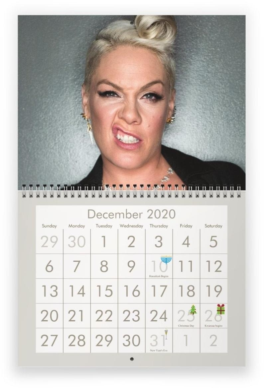 P!nk 2020 Wall Calendar *pre-Order*