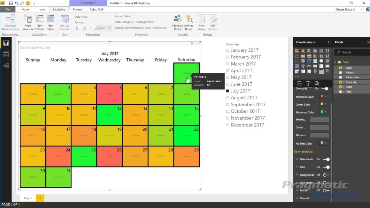 Power Bi Custom Visuals - Beyondsoft Calendar