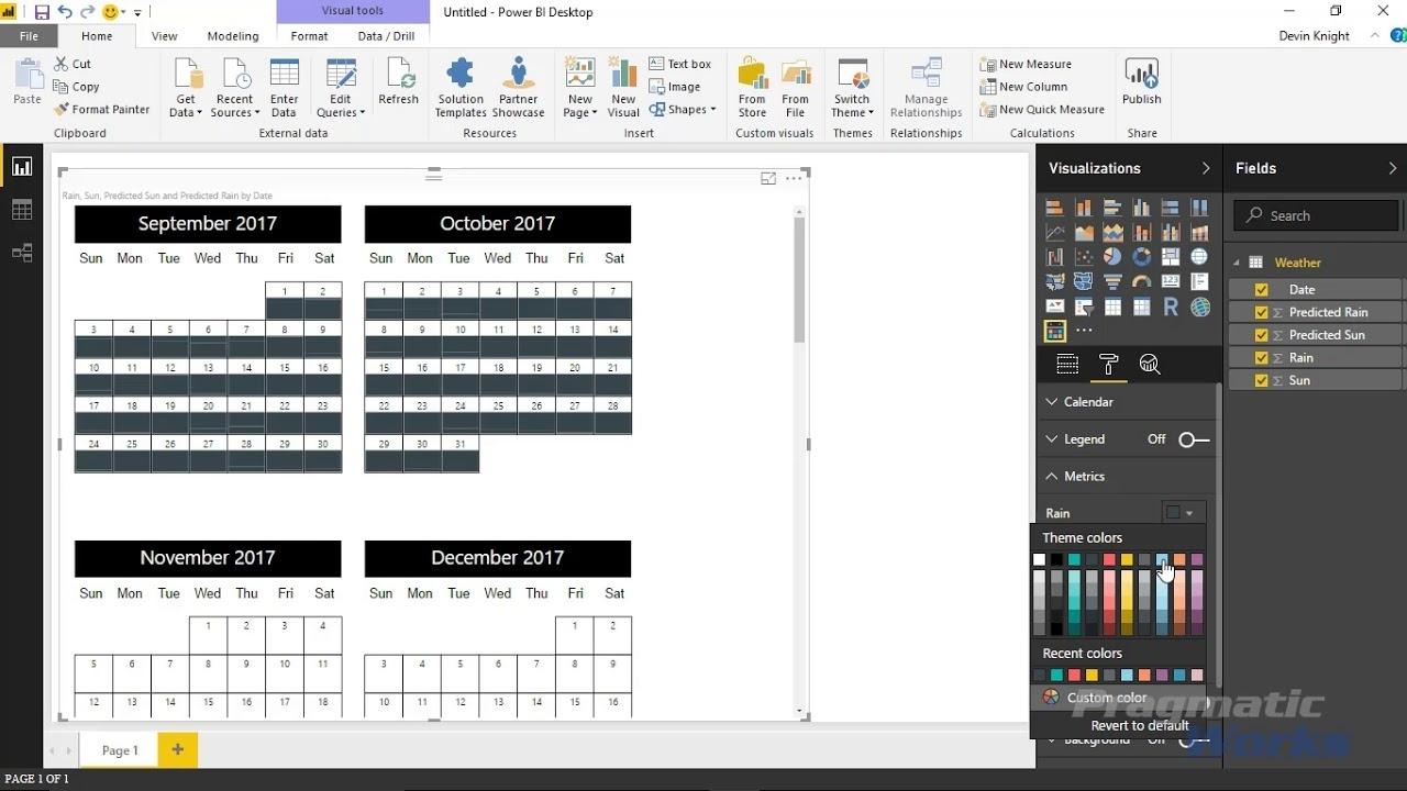 Power Bi Custom Visuals - Custom Calendarakvelon