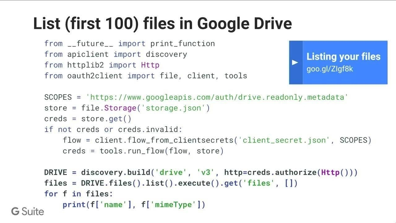 Power Your Apps With Gmail, Google Drive, Calendar, Sheets, Slides & More!