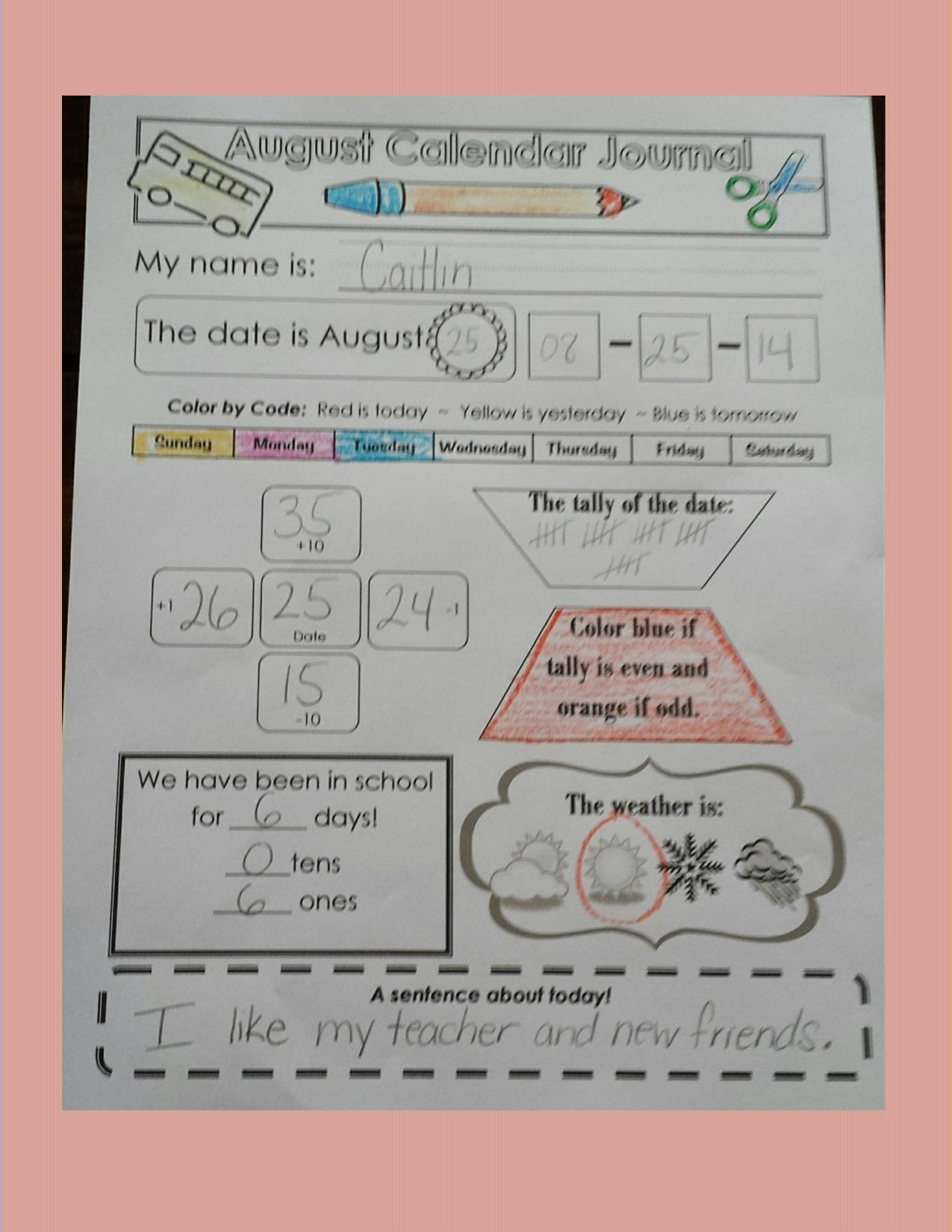 Primary Calendar Ideas, Pictures, And Activities!