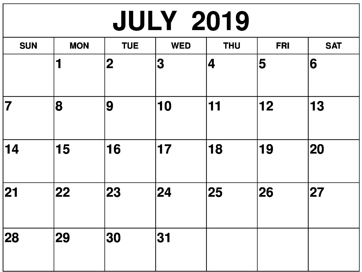 Print July 2019 Calendar Uk – Welcome To The World Of Calendars