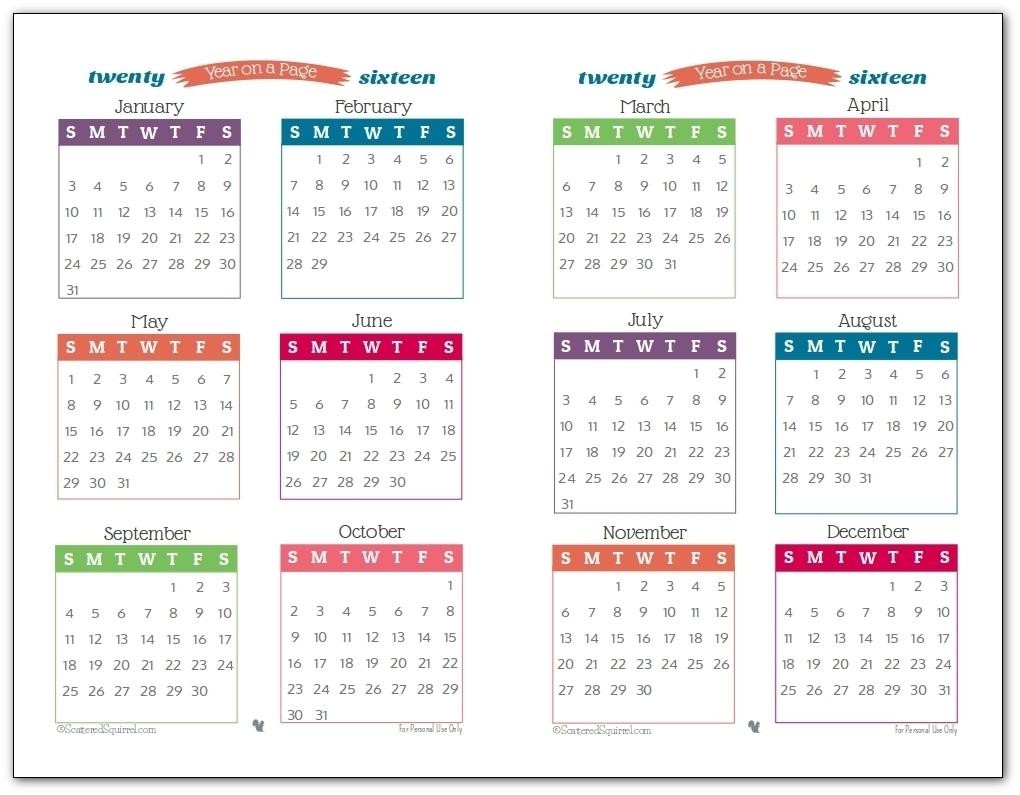 Print Off Year Long Calendar | Template Calendar Printable