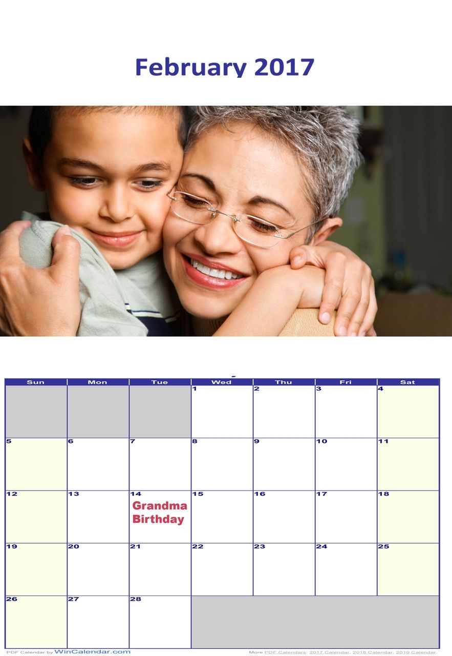 Print Your Own Calendar Using Double Sided Photo Paper