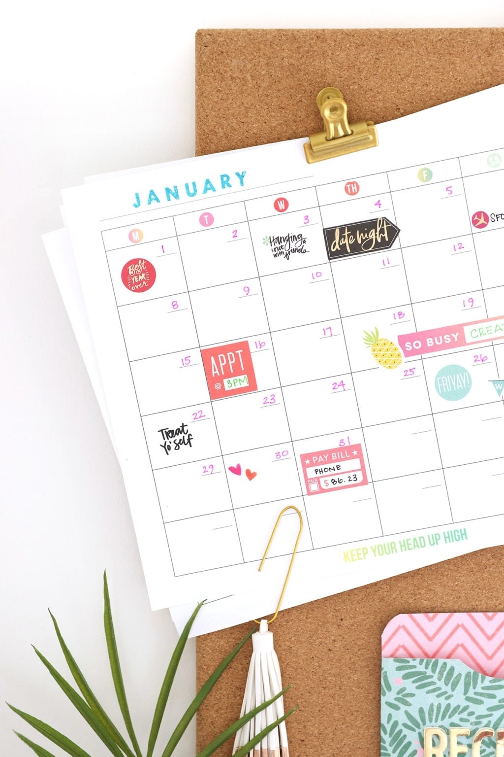 Print Your Own Wall Calendar With Canon | Damask Love