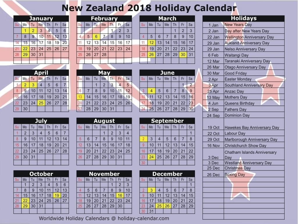 Printable 2019 Calendar New Zealand | Printable Calendar 2020