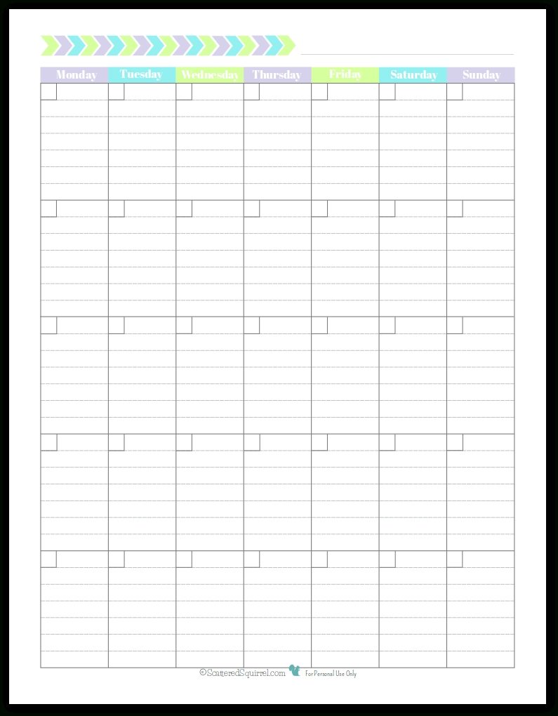 Printable Blank Monthly Calendar With Lines | Beauty